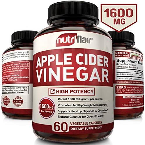 Apple Cider Vinegar Pills 1600MG