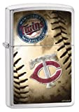Zippo MLB Minnesota Twins Brushed Chrome Lighter