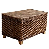 Chair Mats Seat Cushion Storeable Storage Stool Can Bear a Weight of 150 kg Storage Stool Shoe Bench Foot Rest Sofa Stool Furniture Accessories (Color : Brown, Size : 503030 cm)