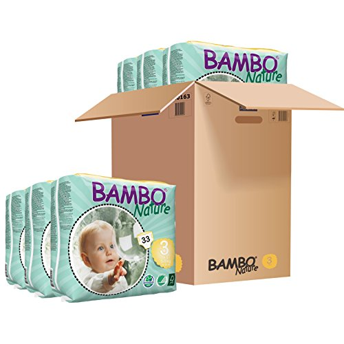 : Bambo Nature Baby Diapers Classic, Size 3 (11-20 lbs), 198 Count (6 Pack of 33)