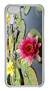 taoyix diy iPhone 5C Case, Personalized Custom Water Lily for iPhone 5C PC Clear Case