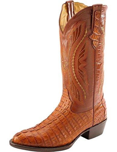 UPC 846648018966, Ferrini 1041102085D Mens Caiman Body Round-Toe Boots-Cognac, 8.5D