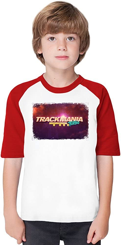 Trackmania Turbo Logo Soft Material Baseball Kids T-Shirt by True Fans Apparel - 100% Organic, Hypoallergenic Cotton- Casual & Sports Wear - Unisex for Boys ...