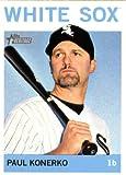 #10: 2013 Topps Heritage Baseball Card #340 Paul Konerko - Chicago White Sox (MLB Trading Card)