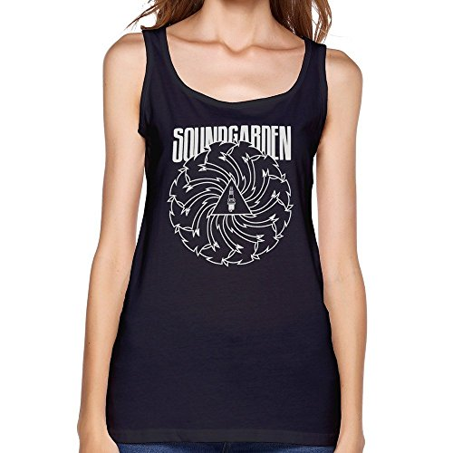 Women's Short Sleeve Soundgarden Tank Top Tee Shirts L Black
