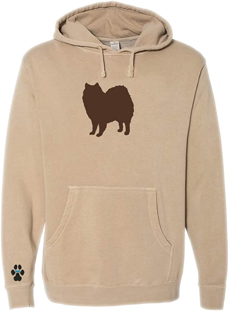 Heavyweight Pigment-Dyed Hooded Sweatshirt with/ American Eskimo Silhouette