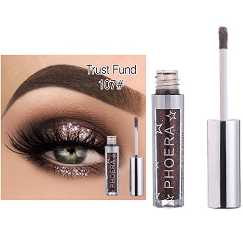 PHOERA 12 Colors Professional Makeup Waterproof Magnificent Metals Glitter and Glow Liquid Eyeliner Eyeshadow (G)