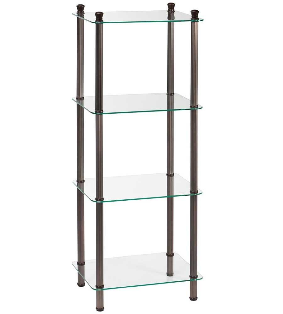 K&A Company Four Tier Glass Bathroom Shelf, 42'' x 12'' x 32.5 lbs