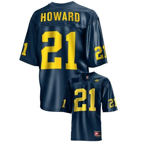 2e5286497 Amazon.com Nike Michigan Wolverines 21 Desmond Howard Navy Field General  Throwback ...