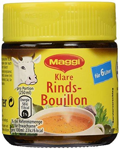 Maggi Bouillon Rinds Bouillon Glas, 10er Pack (10 x 120 g)