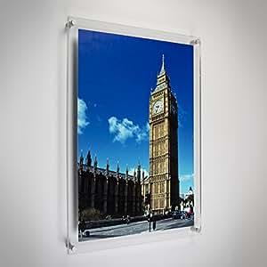 Luminati - Marco de fotos para la pared (acrílico, tamaño A5)