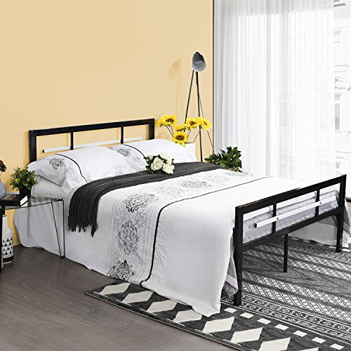 Green Forest Bed Frame Metal Platform Bed with Headboard Footboard Mattress Foundation Kids Adult Bed,No Box Spring Needed Bed (Kids Platform)
