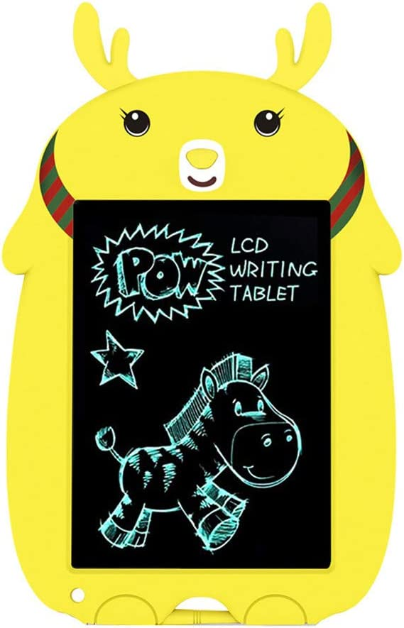 Light and Thin Doodle Board Drawing Board for Kids Eye Protection Birthday Xmas Gifts Vkarh Christmas LCD Writing Board Yellow