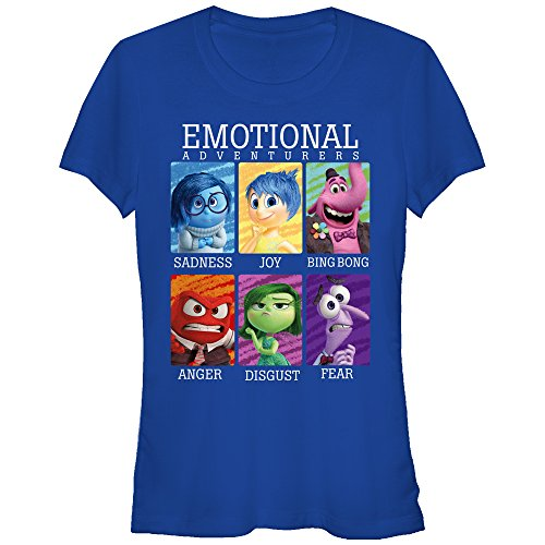 Fifth Sun Juniors Inside Out Yearbook Graphic Tee, Royal, (Inside Out T-shirt)