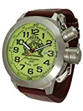 womens big dial watches - Big size 53mm case luminous dial watch with Japan automatic movement T0307