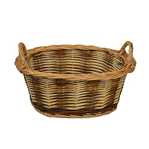 RURALITY Eco-friendly Wicker Storage Basket Planter with (Well Planter Basket)