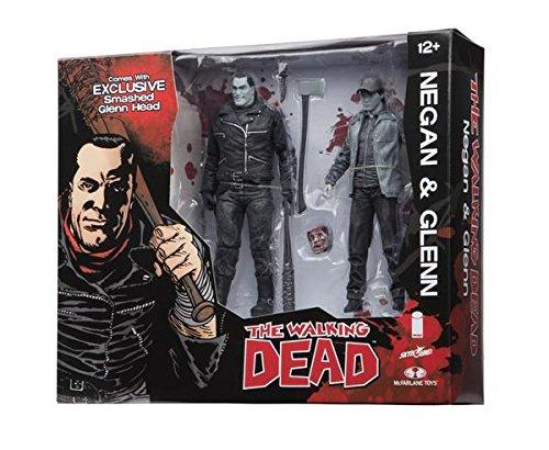 Walking Dead Negan Glenn Black   White 2 Pack Action Figure Set Sdcc 2016 Skybound Exclusive