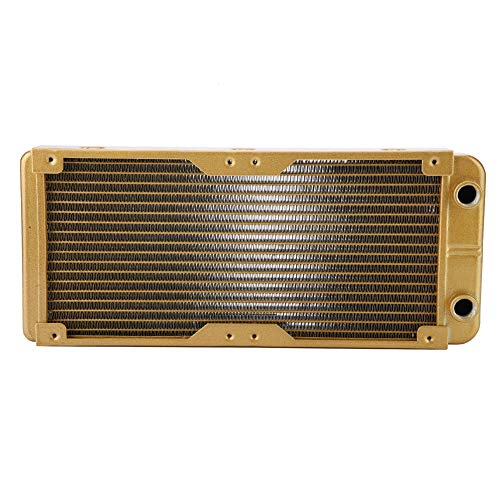fosa Cooling Radiator for Computer, G4/1 Thread 18 Tubes Water-Cooled Heatsink Large Dissipation Area PC Heat Exchanger with Water Separator for Industrial - Radiator Water Cooled