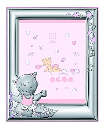 Silver Touch USA Sterling Silver Picture Frame and Booklet Set, Baby Girl by Silver Touch USA