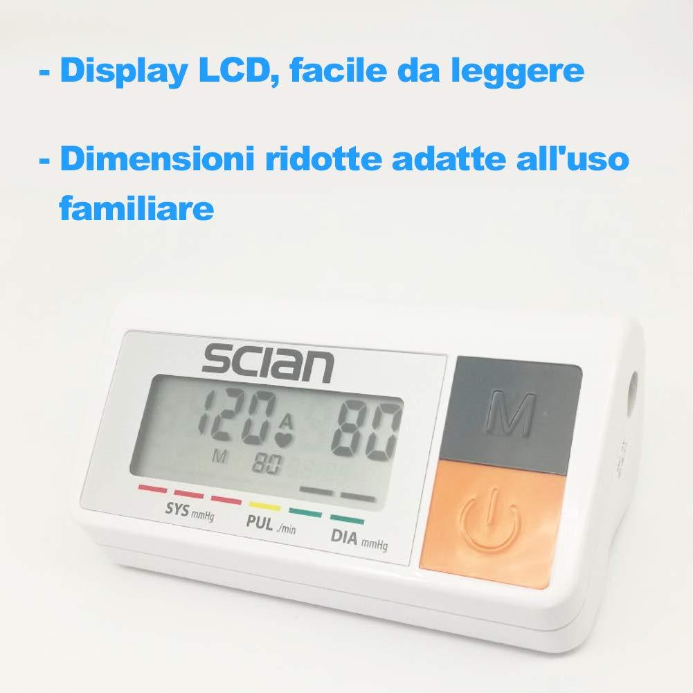 bakaji medidor de presión sanguínea Digital de brazo tensiómetro Profesional Electrónico Automático con pantalla LCD y 90 Ranuras memoria: Amazon.es: Salud ...