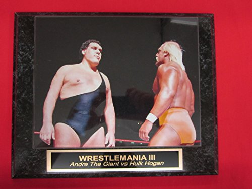 WRESTLEMANIA III Hulk Hogan vs Andre The Giant Collector Plaque w/8x10 - Giant The Andre Photos