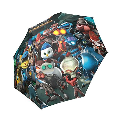 Ratchet and clankAuto Foldable Rain Umbrella Wind Resistant Windproof Floding Travel Umbrella