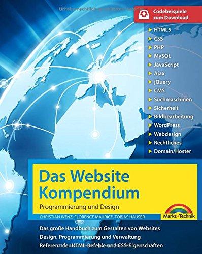 Das Website Handbuch - komplett in Farbe, Programmierung und Design