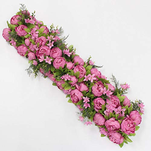 CoronationSun - Decor for Party - 35cm Artificial Flower Centerpieces+1m Peonies Flower Row Arrangement Supply Decor Wedding Arch Table Flower