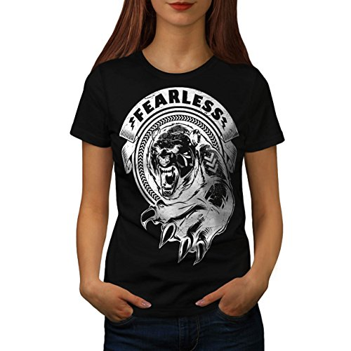 [Fearless Wild Animal Tiger Bear Women NEW S T-shirt | Wellcoda] (Bear Jew Costume)