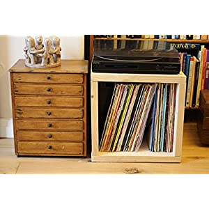 Chunky Funky Reclaimed Stackable Pine 12″ Vinyl Storage Box