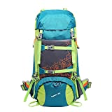 Cheap Bestorno Internal Frame Hiking Backpack 50L, Backpacking Backpack for Women and Men (Exclusive Color Design/Blue)