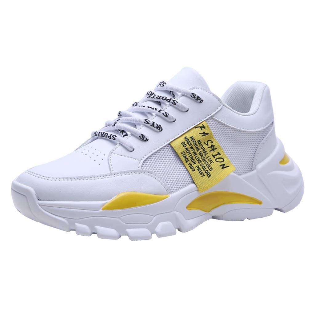 Sunsee-Men Shoes Men's Summer Hollow Mesh Breathable Sneakers Non-Slip Wear-Resistant Sneakers (40/US 7.5, Yellow) by MEN SHOES BIG PROMOTION-SUNSEE (Image #10)