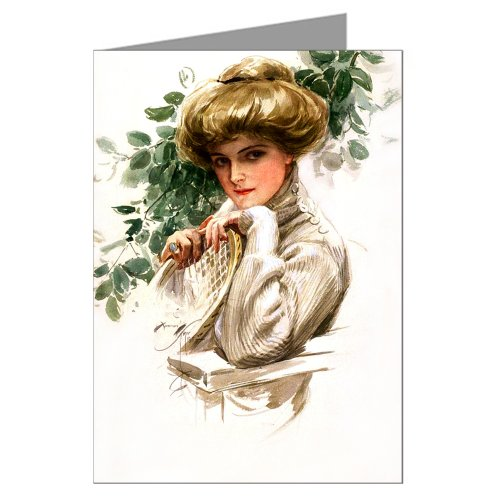 of Harrison Fisher's Celebrated Illustrations Of Women this one featuring an American Beauty and a Tennis Racket (Single American Women)