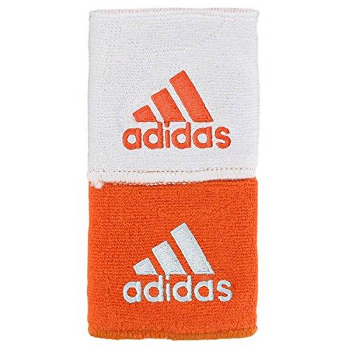 adidas Unisex Interval Reversible Wristband, Orange/White, One (Cotton Reversible Headband)