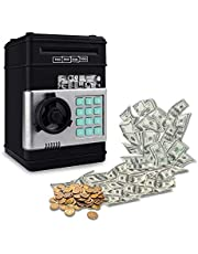 SMART SciencePurchase Cash Vault for Kids - Password Protect Your Bills and Coins - Bank Safe Features Sound Effects, Lights, and Music