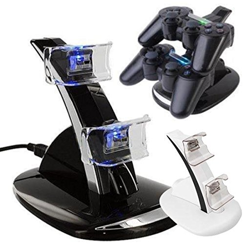 Cewaal LED USB Dual Dock Charging Station Stand For Xbox One S Gamepads