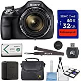 Sony Professional Digital Point & Shoot Camera Kit With Sony Cyber-Shot DSC-H400 + Original Accessories + 32GB Memory + Pouch + Cleaning Kit With Mini Tripod - International Version