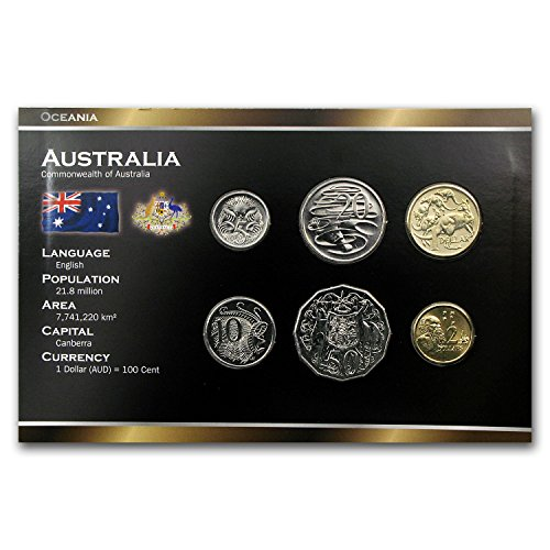 - AU Australia 6-Coin Set 5 Cents - 2 Dollars BU Brilliant Uncirculated
