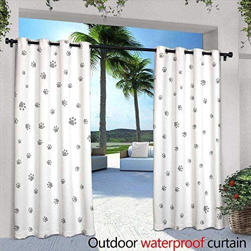 Lightly Patio Curtains,Seamless Striped Christmas Wallpaper with Stars and Snowflakes (Vector),W96 x L108 Outdoor Patio Curtains Waterproof with Grommets