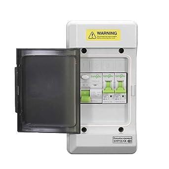 Unidad de consumo RCD 63a / 30ma y 1x16amp y 6amp mcb ip66, (caja de distribución con interruptor): Amazon.es: Industria, empresas y ciencia