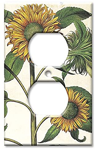 Art Plates - Outlet Cover OVERSIZE Switch Plate - Sunflowers - Oversize Light Switchplates
