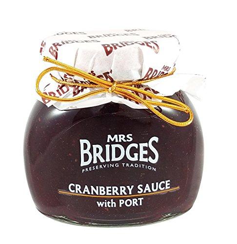 Mrs Bridges Cranberry Sauce with Port, 8.8-Ounce (Cranberry Port)