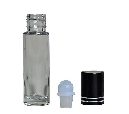 3 unidades vacías nachfüllbare transparente de cristal Roller Roll On Botella vasos con Roller Balls de