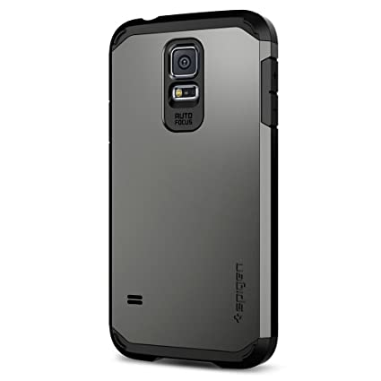timeless design 907c1 eefda Galaxy S5 Case, Spigen Tough Armor - Extreme Heavy Duty Protection and Air  Cushion Technology for Galaxy S5 (2014) - Gunmetal