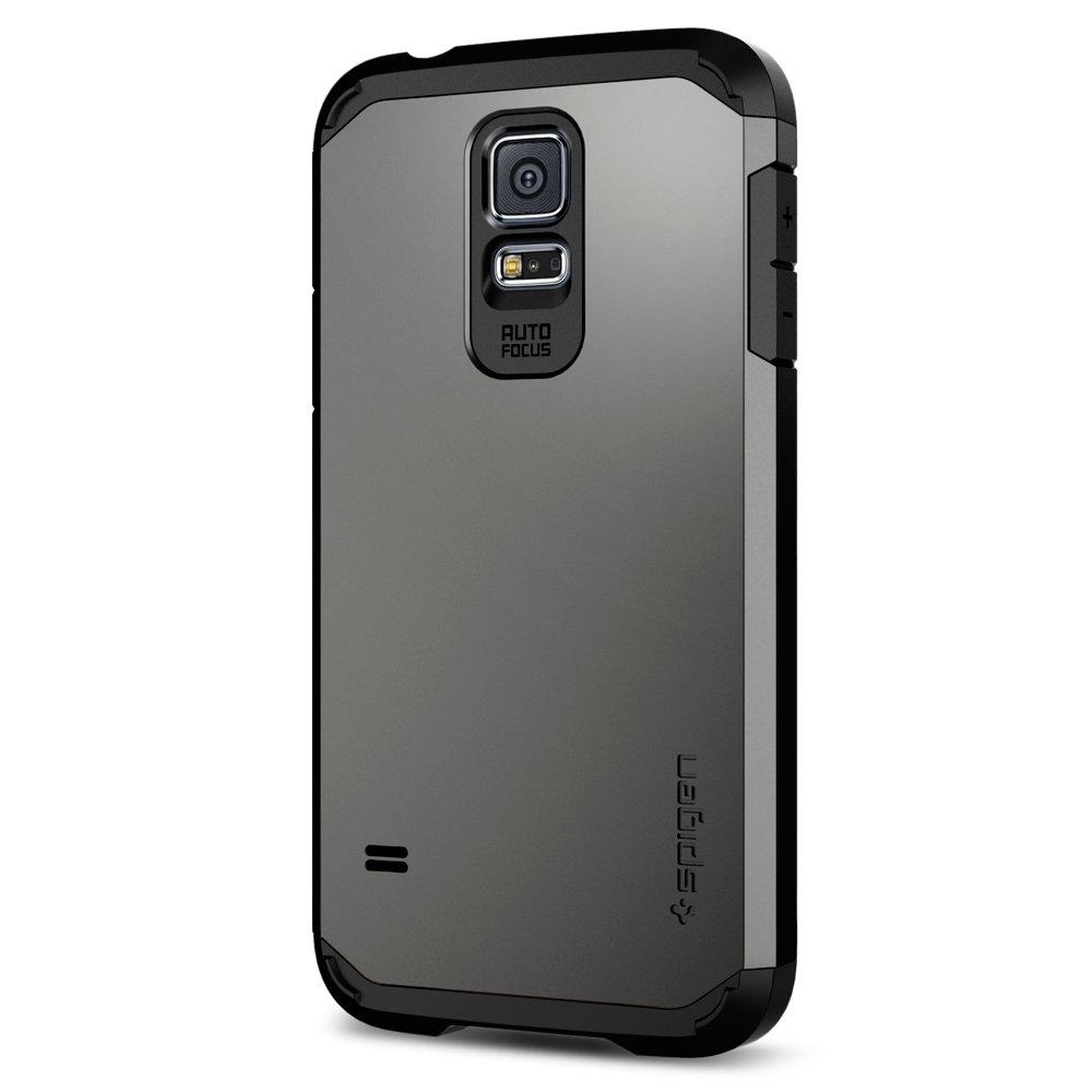 Funda Spigen Samsung S5 2014 [Gunmetal] Tough Armor