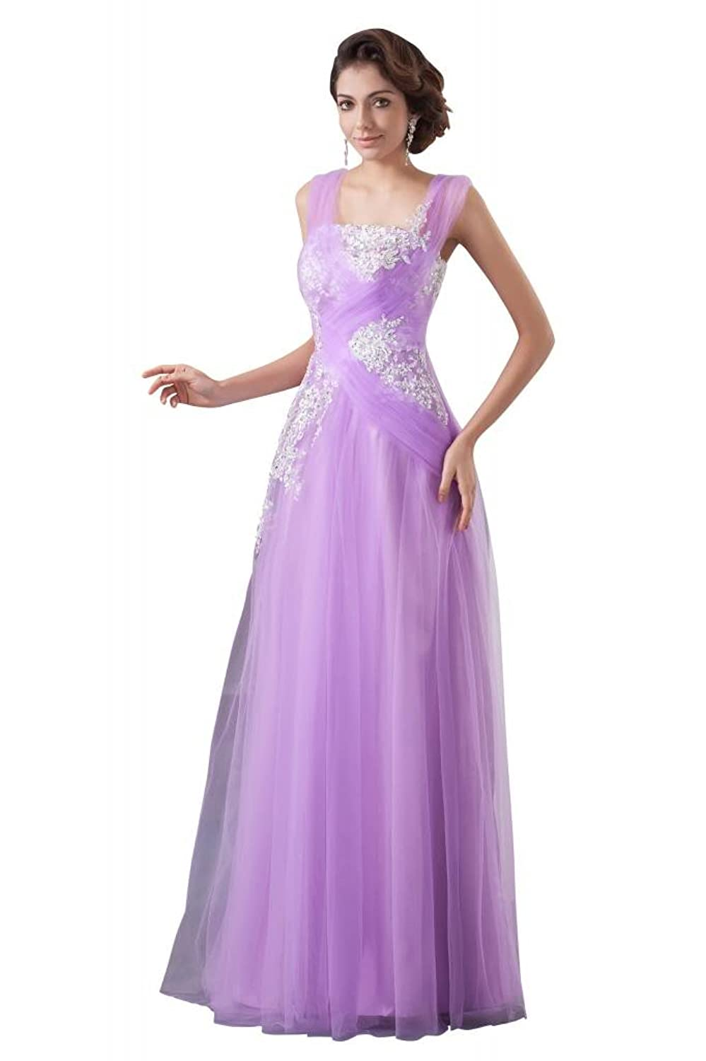 GEORGE BRIDE Simple Tulle Party Dress With Appliques
