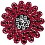 Navika Swarovski Crystal Ball Marker/hat Clip - Sunflower Red