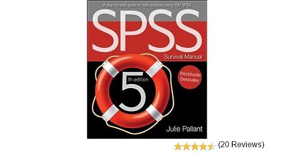 Spss Survival Manual Julie Pallant 8601404348310 Books Amazon