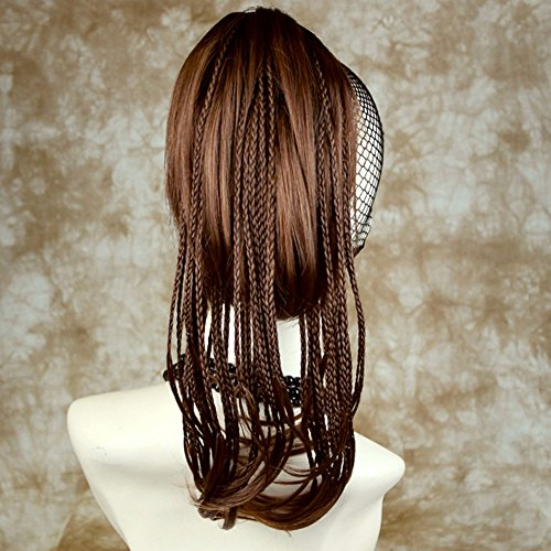 Short Hair with Long Braids Hair Auburn Ponytail hairpiece Extension (Braid With Ponytail)