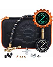 Grit Performance Rapid Air Down Tire Deflator Offroad Kit, PSI Tire Pressure Gauge & Custom Foam Case + Chrome Caps & Valve Core Repair Tool | Quickly Deflate 4x4 Off Road Tires on Jeep, Truck, ATV